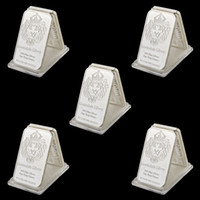 5 stks Zeldzame 999 Fine Silver One Troy Ounce VS Scottsdale Craft 1Oz Verzilverde Metalen Souvenir Bullion Bars