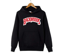 BACKWOODS Mens Hoodies Fashion Old Skool Letter Print Sweats...