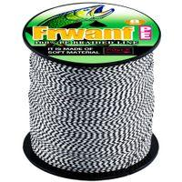 Spettacoli saltwateNuovo stile mai sbiadito Doppio colore 100m 8 fili 150LB Super Strong PE intrecciato Linea di pesca pe fibra linea