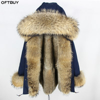 OFTBUY 2019 Long Parka Зимняя куртка женщин ветровки Real Fur Coat Natural Raccoon Fur Hood Real Liner Luxury Streetwear