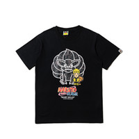 2019 Unisex Anime Naruto Cartoon Street Fashion Casual Manga corta Cuello redondo Deportes Hip Hop Monkey Head camiseta Tee