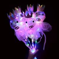 LED-Lichtstocks Versione Aggiornata del Maiale Cielo Stellato Palla Fata Bar Animato Palla Flash Bacchetta Magica Giocattoli