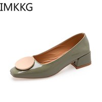 2019 New Women Pumps green High heels Lady Pu leather summer...