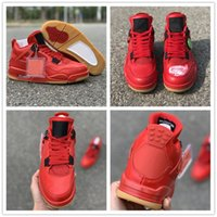 Newest Basketball Shoes 4 Singles Day Red Catchy Fashion Sne...