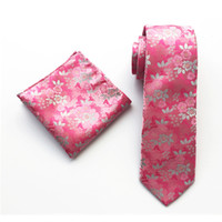 New Silk Tie Set 8cm Tie Men Hanky Handkerchief and Necktie ...