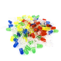 Mixed Color 3mm Round LED Diode Light Bulb Ultra-Bright Emitting Diodes Lamp Green Yellow Blue White Red Electronic Assorted DIY Kit