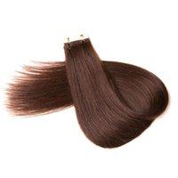 البرازيلي الظلام البني # 2 20 إلى 26 بوصة مزدوجة مرسومة مستقيم الجلد لحمة 100٪ عذراء الشعر التمديد الشعر الشريط في