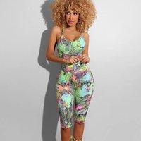 여성용 jumpsuits rompers zkyzwx 섹시한 뱀 인쇄 백리스 바디 콘 플레이 슈트 2021 여름 바디 옷 원피스 클럽 복장 여자 jumpsuit