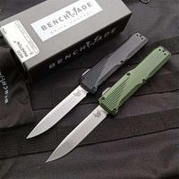 Nuovo arrivo BM 4600 Benchmade coltello a doppia azione Coltello automatico 6061-T6 maniglia in alluminio S30V lama tattica coltelli strumento EDC bm 3300