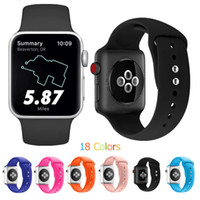 Soft Silicone Replacement Sport Band For Apple Watch Series ...