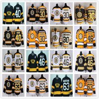 Vintage CCM 75th Boston Broston Bruins 63 Brad Marchand Jersey Mens cucito 30 Tim Thomas 40 Tukka Rask 46 DAVID KREJCI HOCKEY Jerseys