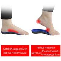 3angni 3/4 Arch Soporte de arco Plantillas ortopédicas Hombres Mujer Inserciones Zapatos ortopédicos Plantillas para pies planos Pasillo dolor plantar fascitis