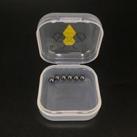 6шт / уп 4мм 6мм Sic Terp Pearls мини Sic вставки из карбида кремния Мяч для Quartz Banger Domeless Nails толщиной Bangers нефтяной вышке бом