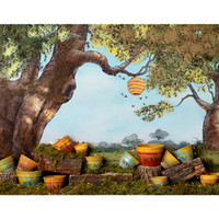 Oil Painting Autumn Scenic Photography Backdrops Printed Old...