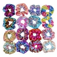 Sirène Girls Hair Scrunchies Fashion Glisten Cadre enfants Accessoires pour Bandes de poils pour enfants A6772