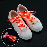 LED Multicolor LED Shoelace LED Nightlights Light Nylon Piso Luminoso brillante Flash Flashing Shoeles Cordones Laces Cordillo Shoestring