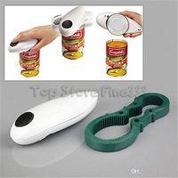 Automática abridor de lata elétrico Mini One Touch Can Opener Jar Can Bottle Tin Mãos Opener gratuito a pilhas