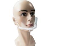 Одноразовые пластиковые прозрачные маски прозрачные линзы Улыбка против тумана капельки рестораны рестораны кейтеринга маски оптом 20 шт.