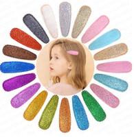 소녀 장식 조각 헤어핀 귀여운 다채로운 스냅 헤어핀 레인보우 반짝이 헤어 클립 키즈 어린이 앞머리 헤어핀 아동 헤어 액세서리 저렴한 E4909