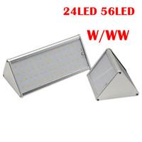 Umlight1688 56LED 24LED 태양 벽 램프 레이더 파 유도 조명 3 작업 모드 원격 제어 IP65 방수 가로등