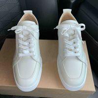 2019 Moda Parigi Scarpe da uomo Sneakers Fondo rosso Sneaker bassa Rantulow Orlato Spikes Off Junior Beige / Nero / Bianco All'ingrosso della fabbrica