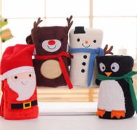 الرسوم المتحركة عيد الميلاد الفانيلا غطاء بابا نويل ثلج البطريق دير نمط قابل للغسل الدفء السجاد لينة