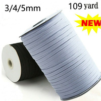 Black White 109 Yard Length DIY Braided Elastic Band Cord Kn...