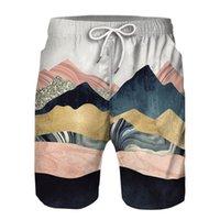 Los pantalones cortos pantalones cortos de la playa de los hombres KISSQIQI 3D Prinetd los hombres ocasionales de moda creativo multicolor de los hombres de tamaño asiático M-2XL