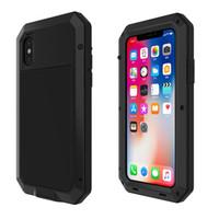 Coque antichoc étanche à la poussière pour téléphone iPhone 6 6S 7 8 Plus X 5S 4 4S XS MAX XS Coque arrière en métal