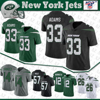 33 Jamal Adams NY Football New Jersey York 14 Sam Darnold 26 Le'Veon Bell 57 C.J. Mosley 12 Joe Namath Jet Stitched Jerseys