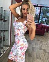 Fashion-2019 جديد أنيق الصيف اللباس المرأة مثير طباعة السباغيتي حزام حزمة الورك اللباس الإناث خمر bodycon شيونغسام vestidos