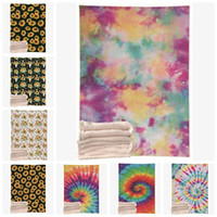Designer Blanket Tie Dye Throw Blanket Double Layers Flannel...