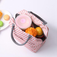 Öğle Çanta Oxford Isı Yalıtımlı Lunch Box Bez Soğutucu Çanta Bento Kılıfı Öğle Konteyner Okulu Gıda Saklama Poşetleri Flamingo Unicorn LQP-2789