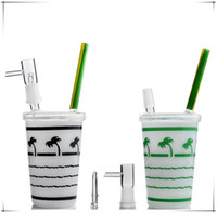New Arrival Starbucks Dabuccino Rig Coconut Tree Maple Leaf Starbucks Cups Glass Bong Water Pipes With Oil Rig Red Green Black