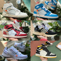 2020 white air jordan Retro off Jordans Nike Jumpman 1s Obsidian Turbo Grün Retroes ASG Unc White Blue Air Frauen Sportschuhe Bred