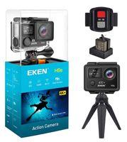 2020 Hohe Qualität Eken H6S Sport Kamera 2.0 + 0,95 Dualbildschirm Vollbild EIS Video 4K Wifi 170 Superlinse Wasserdichte Action-Kameras 5pcs DHL