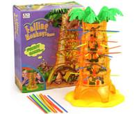 Crianças queda Monkeys Jogo Brinquedos Crianças tabuleiro de jogo do brinquedo da família Jogo Brinquedos Meninos Meninas Pai-prole Brinquedos HBB 001