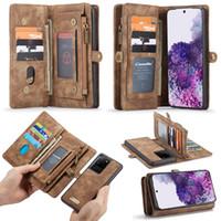 Pour iPhone 12 11 PRO X XS MAX XR 8 7 Portefeuille Étuis de portefeuille de PU de PU de luxe PU Couverture arrière avec des machines à sous Cardalaxy S21 S20 S20 S10 Note20 10 9
