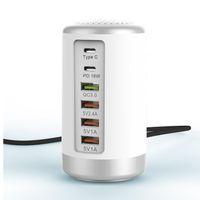 65W 6 Порт USB зарядное устройство Fast HUB Quick Charge QC 3,0 Мульти USB Type C PD зарядное устройство Зарядное устройство