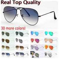 Moda Piloto Óculos de Sol Moda Da Moda Aviação Sol óculos Mens Vidros UV Proteção Des Lunettes de Soleil Casos de Couro Grátis, Acessórios