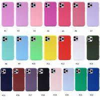 1,5 мм Толщина Candy Color Matte Soft TPU Абоназорные чехлы для телефона для iPhone 6 7 8 Plus XR XS 11 12 Pro Max Mini