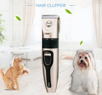 Máquina de corte de pelo de cabello de bajo ruido Máquina eléctrica para perros Peinador de perro Clipper Profesional Removedor de animales Cutter Cutter Planeamiento recargable