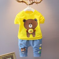 good quality Baby Boy Clothes set Autumn Spring 2 piece spor...