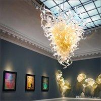 مصممة جيدا المنزل الثريا الإضاءة مصابيح اللوبي شنقا diy اليد في مهب الزجاج الثريات والديكور المنزل ديكور المنزل