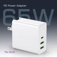 Caricabatterie PD65W Type-C USB-C Adattatore di alimentazione 3Port PD30W QC3.0 per iPhone Computer portatili PD Caricabatterie QC