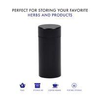 Aerestiga in lega di alluminio metallo tabacco stash jar multiuso sottovuoto sigillo portatile contenitore contenitore metallo tabacco fumatore secco herb herb stoccaggio