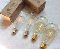 ST64 LED 전구 2W 4W 6W 8W B22 E27 LED 전구 220V 어쨌든 조명에 대 한 빈티지 필라멘트 램프