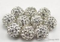 500 stks / partij 10mm gemengd beste pave cz disco klei bal losse kristal kristal kralen armband ketting kralen nieuwe stijl strass gratis verzending.