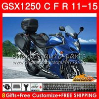 Cuerpo para SUZUKI Bandit GSX1250F GSX1250FA GSX1250 C 11 12 13 14 15 23HC.32 GSXF1250 GSX1250C azul brillante 2011 2012 2013 2014 2015 Fairing
