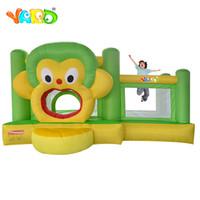 Forma de macaco bonito Gonflable Jumping Casa Inflável Bounce Casa Bouncy Castelo Moonwalk Trampoline Brinquedos Para Crianças